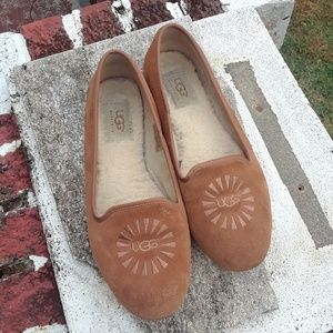 UGG Alloway Chestnut Loafer Slippers Flats sz 7